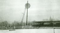 Hradec Králové - installation of floodlighting towers (lollipops) in the All Sports Stadium (1976)