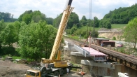 Česká Třebová - erection of the railway bridge (2003)
