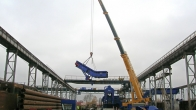 TSR Ostrava - installation of the metal scrap press machine (2012)